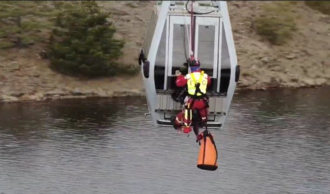 GONDOLA ALARM! Rescue teams intervened above the abyss, all passengers