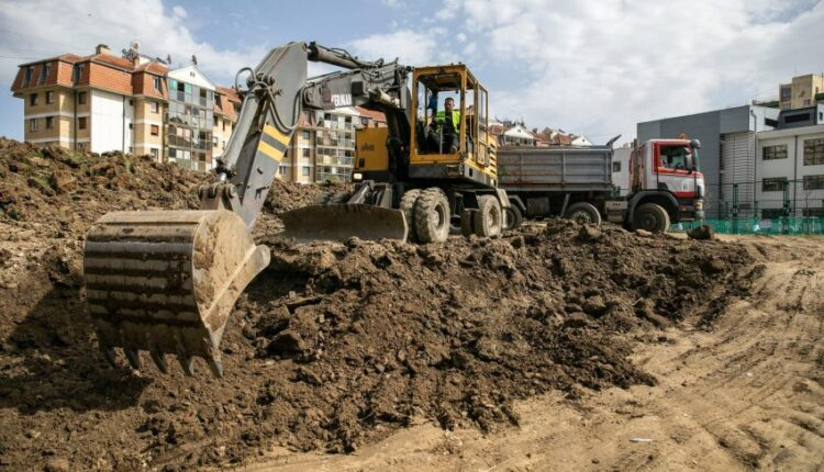 The works for the construction of the kindergarten in the