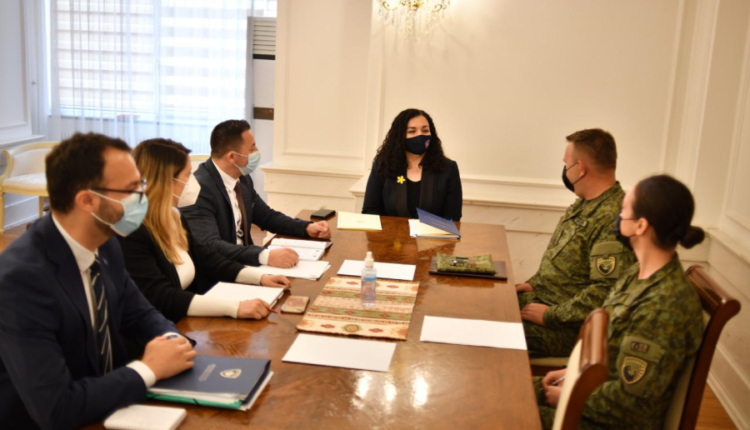 Osmani meets the Minister of Defense and the Commander of