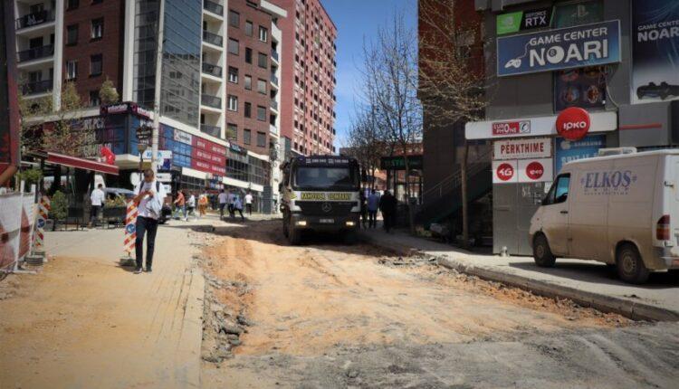 KEDS is constructing the Muharrem Fejza road in Prishtina with