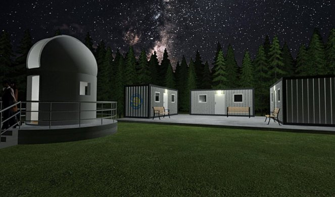 THE CONSTRUCTION OF THE ASTRONOMICAL STATION BEGINS! The city of