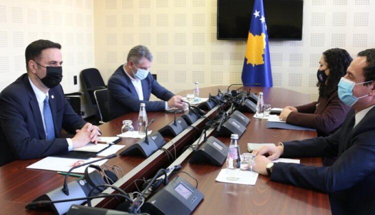Today Albin Kurti receives Lumir Abdixhiku in a meeting