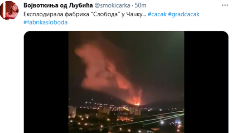 Serbia ammunition factory EXPLODES, lighting up the night and forcing