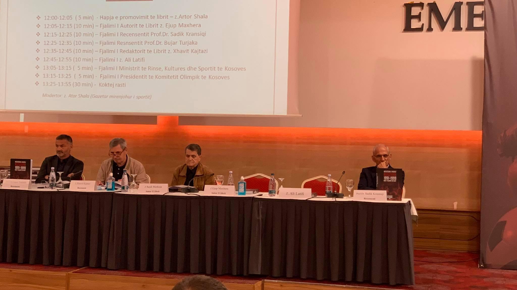 """Promovohet libri """"Mëvetësimi i Sportit Kosovar 1991-1999 rast i veçantë në botë"""""""