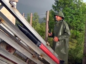 The city roared through Požega twice, due to bad weather