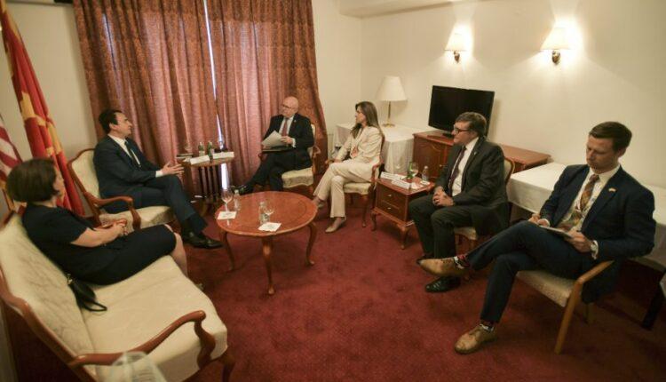 Kurti meets U.S. top officials, Reeker and Palmer