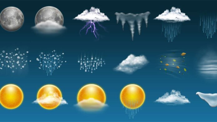 Weather forecast for the next five days