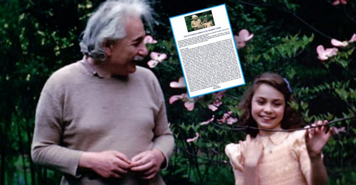 The letter that Einstein sent to his daughter: Here is