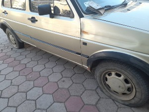 Gjakova, inflated tires on the car of a friend of
