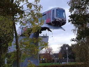 The Netherlands, why the train hit the whale's tail
