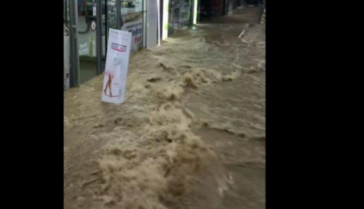 Severe condition on road B, rain also penetrates through the
