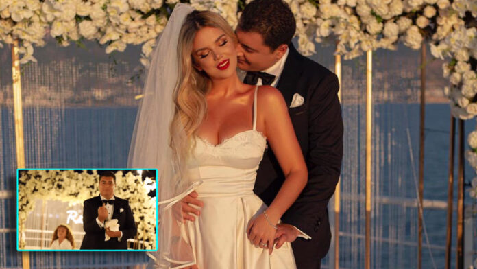 Ermal Hoxha pulls out his middle finger at the wedding,