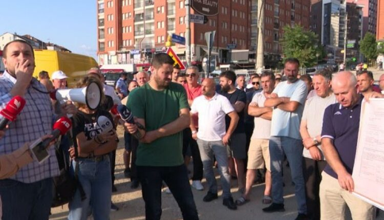 "Residents of ""Muharrem Fejza"" street through the protest demand intensification"