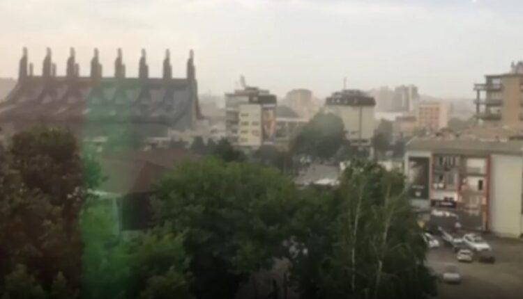 Unexpected storm in Prishtina