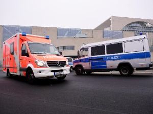A bus overturned in Germany, and passengers from Serbia were