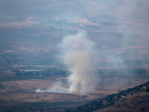 Rocket attack from Lebanon on the north of Israel, retaliated