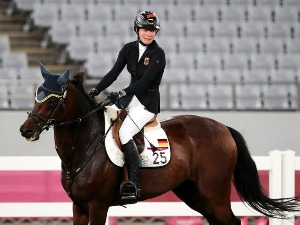 A German woman was suspended from the Olympic Games because