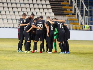 Goleada, interruption of the match and celebration of Partizan in