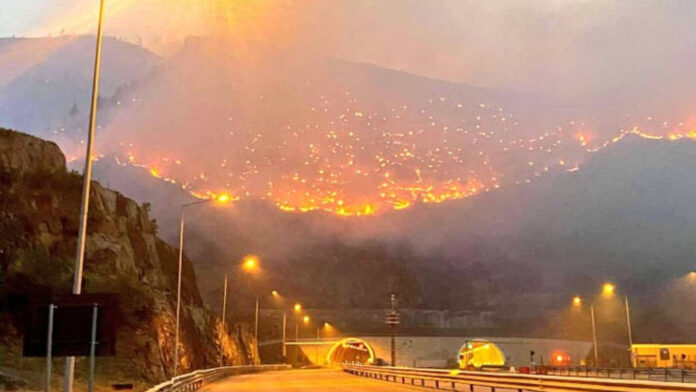 The fire over the Kalimash tunnel gets out of control