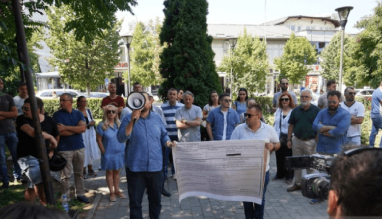 """Residents of """"Muharrem Fejza"""" street are protesting, a lawsuit against"""