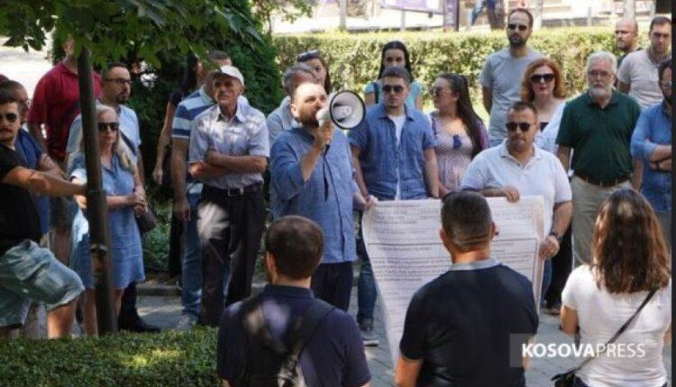Procrastination of works / Residents of Muharrem Fejza Street demand