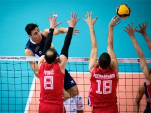 Serbian volleyball players will not defend gold at the European
