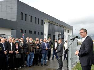 "Vučić opened the plant of the company ""Regent"" in Svilajnac"