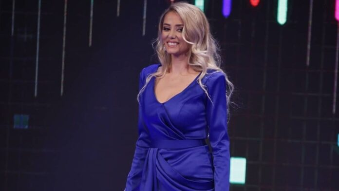 Gresa Behluli posts the video, showing her round belly