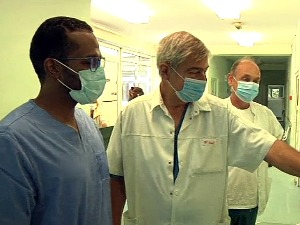 A young doctor from Qatar is undergoing training at a
